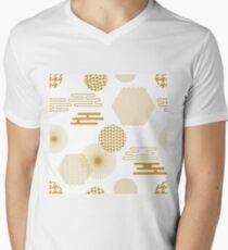 Simple white, golden oriental print. T-Shirt
