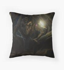 Woodland Imp Guardian Elemental  Throw Pillow