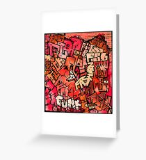 F_red Greeting Card
