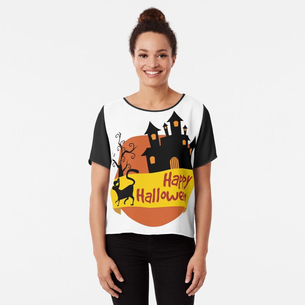 Happy Halloween! Chiffon Top