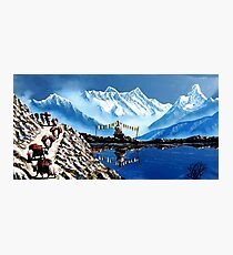 Panoramic View Of Annapurna Mountain Nepal Photographic Print