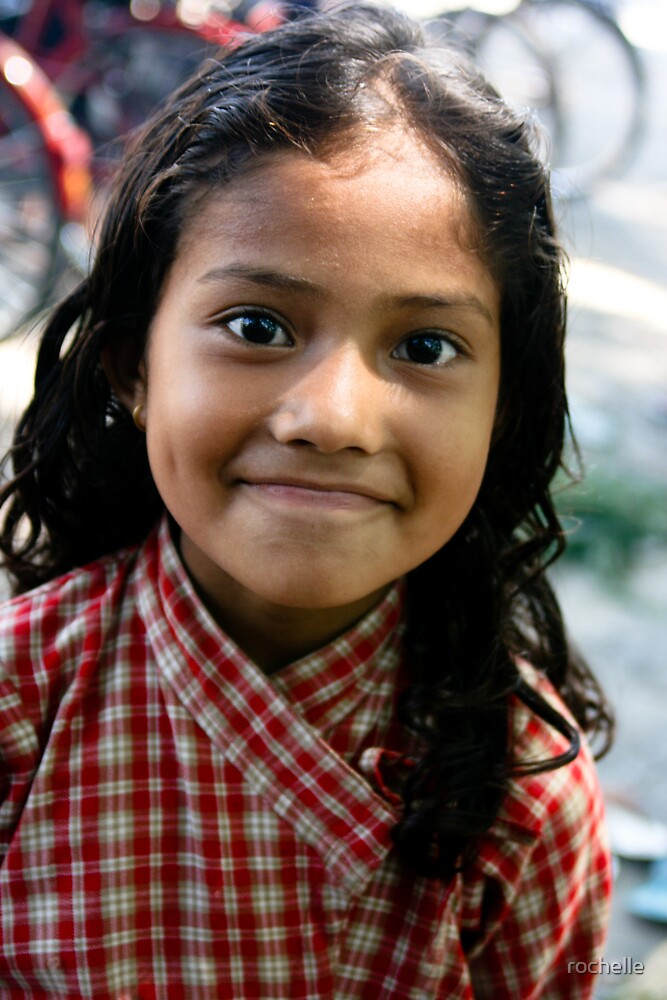 Children of Nepal smile by rochelle