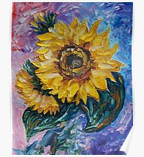That Sunflower From The Sunflower State by OLena Art - brand  Poster