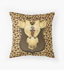 Zoo animals wildlife - Giraffe Throw Pillow