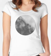 Moody clouds 3 Women's Fitted Scoop T-Shirt