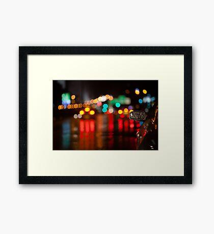 night in mirror Framed Print