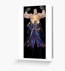 Armstrong Inspired Anime Shirt Greeting Card