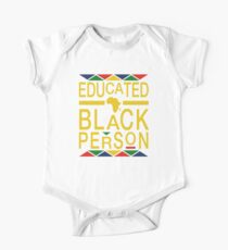 Educated Black Person One Piece - Short Sleeve