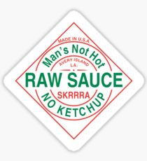 No ketchup, Raw sauce - Tabasco label Sticker