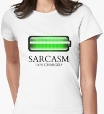 """""""100% CHARGED"""" Women's Fitted T-Shirt"""