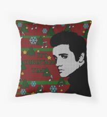 Elvis Presley - Christmas Throw Pillow