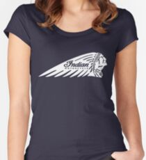 Indian Motorcycle Logo White Women's Fitted Scoop T-Shirt