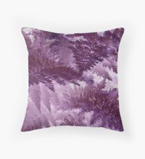 Hazy Purple Ferns Throw Pillow