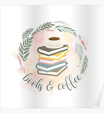 BOOKS & COFFEE Poster