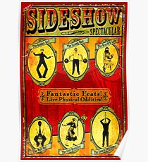 SIDESHOW SPECTACULAR; Vintage Circus Advertising Print Poster