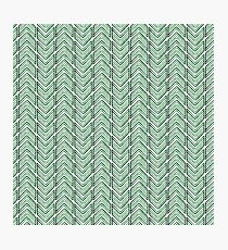 Watercolor green geometrical pattern with arrows Photographic Print