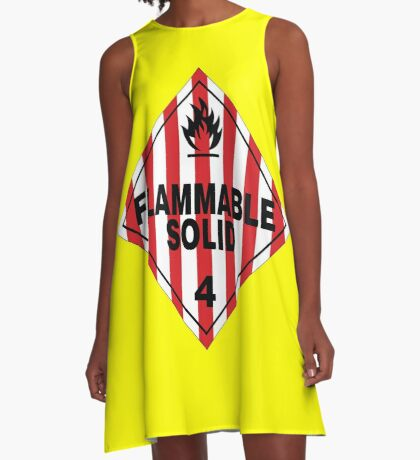 Flammable Solid A-Line Dress
