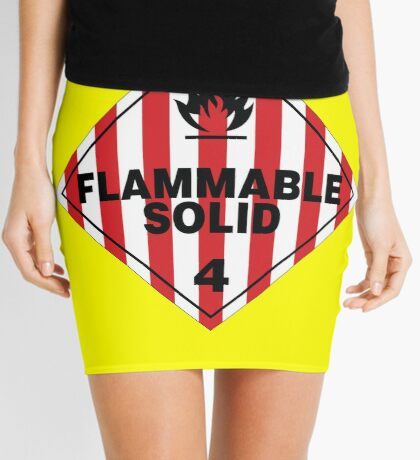 Flammable Solid Mini Skirt