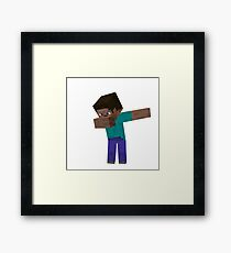 MINECRAFT DAB!! Framed Print