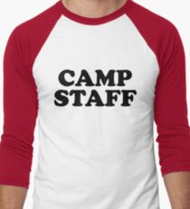 Camp Ground Campground Staff In Black Letter T Shirt One 1 Side Only For Camping Camp Camper RV Staff Worker Halloween Costume Joke Funny Gag Gift T-Shirt