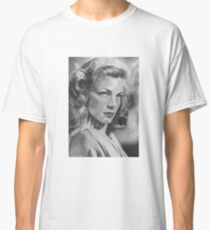 Lauren Bacall in Graphite Pencil Classic T-Shirt