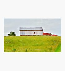A Barn On A Hill Photographic Print