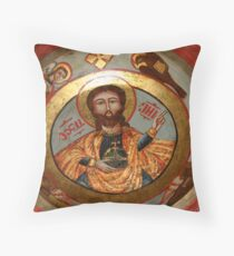 Ceiling painting at St Mina Coptic Church Old Cairo Throw Pillow