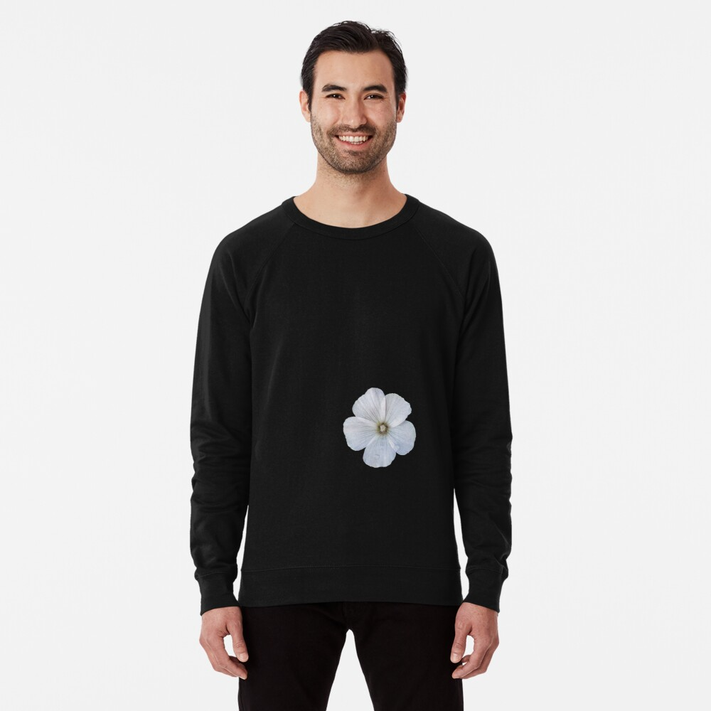 White hibiscus flower Lightweight Sweatshirt