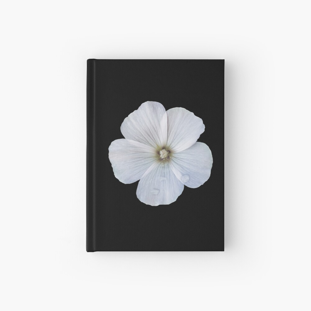White hibiscus flower Hardcover Journal
