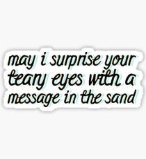 A Silent Film lyrics 1 Sticker