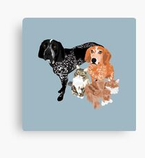Lady, Blue, Leo and Butch Canvas Print