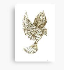 Steampunk Dove Canvas Print