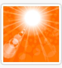 Abstract Sun Background. Orange Summer Pattern. Bright Background with Sunshine. SunBurst with Flare and Lens. Sticker