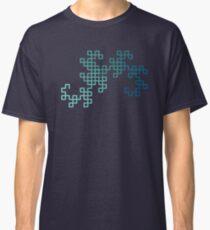 Dragon Curve Fractal - 8 Steps Gradient Classic T-Shirt