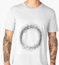 Grunge Ink Background. Textured Black Splatters. Dust Overlay Distress Grain. Grune Blob Pattern Men's Premium T-Shirt