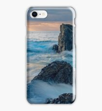 Sunrise landscape with ocean waves and rocks iPhone Case/Skin