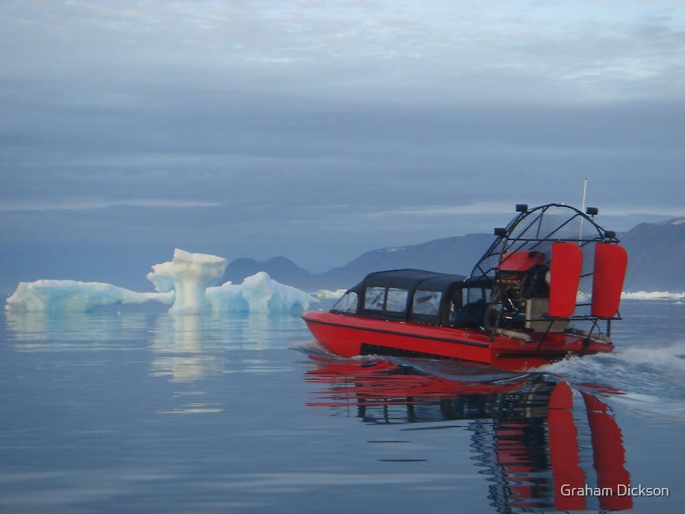 Arctic Air Boat Passing Iceberg by Graham Dickson