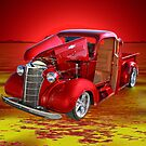 Red Pick Up Reflected by gemlenz
