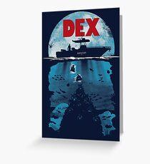 Dex Greeting Card