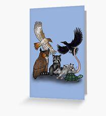 Wildlife Montage Greeting Card