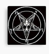 Baphomet Pentagramm Leinwanddruck