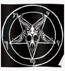Baphomet Pentagramm Poster