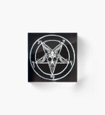 Bloque acrílico Baphomet Pentagram