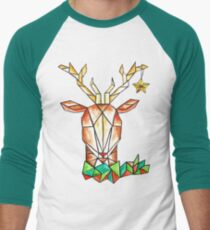 Minimalist Reindeer - Cerf Minimaliste  Men's Baseball ¾ T-Shirt