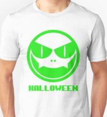 Halloween Pumpkin Mask - Green (Looks better on dark shirt colors) T-Shirt