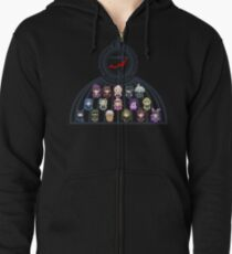 The Ultimate Academy for Gifted Juveniles Zipped Hoodie