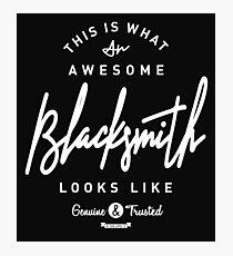 Blacksmith Photographic Print