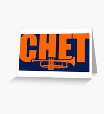Jazz Chet Baker Greeting Card