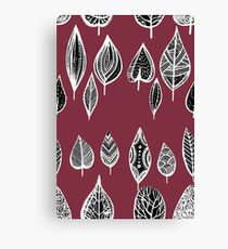 leaves of trees decor decoration red Canvas Print