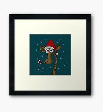 Christmas Giraffe  Framed Print